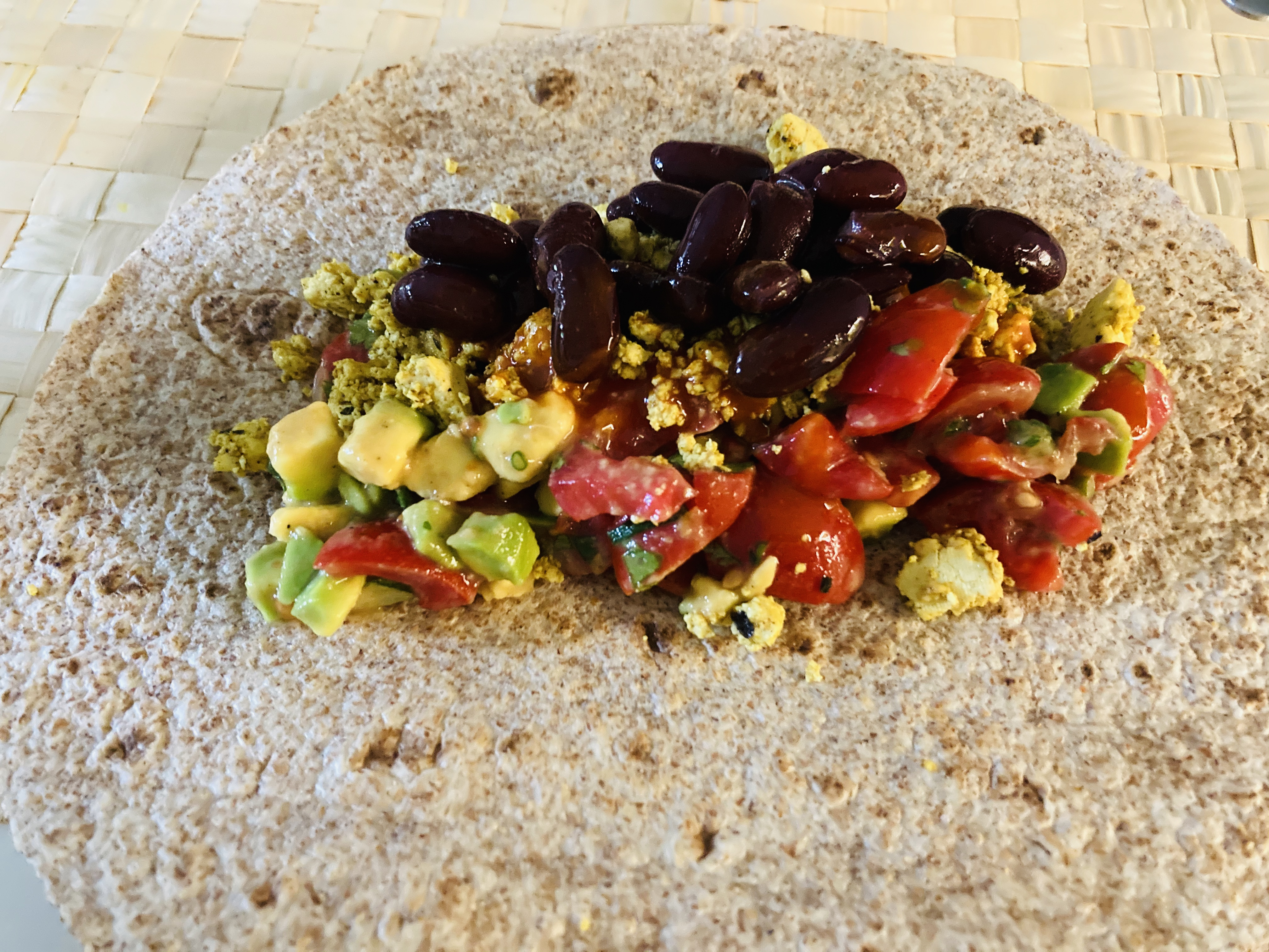 Inhalt vegan breakfast burritos