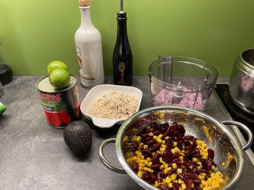 Zutaten für das vegane Chili