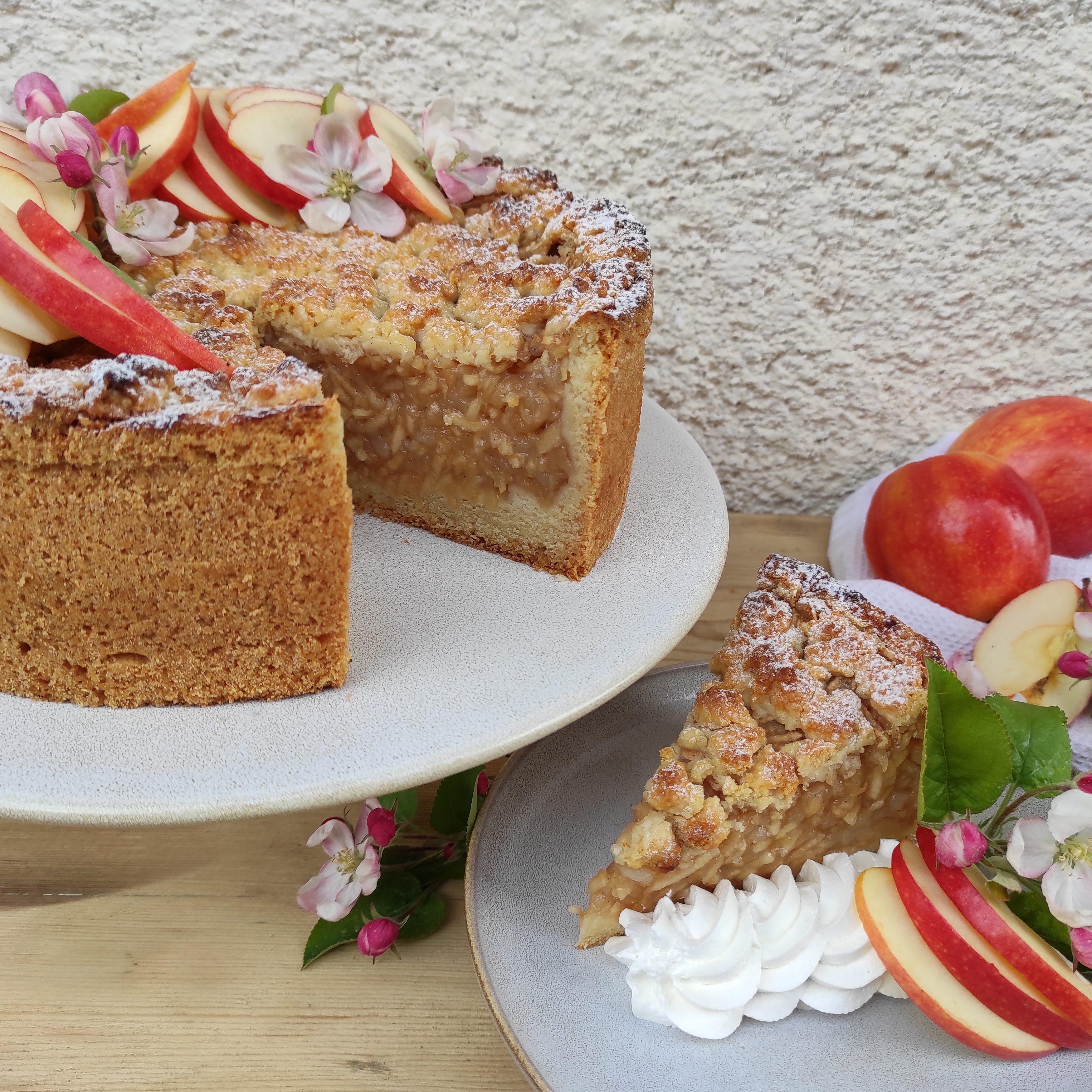Vegane Apfeltorte von Julias vegan bakery